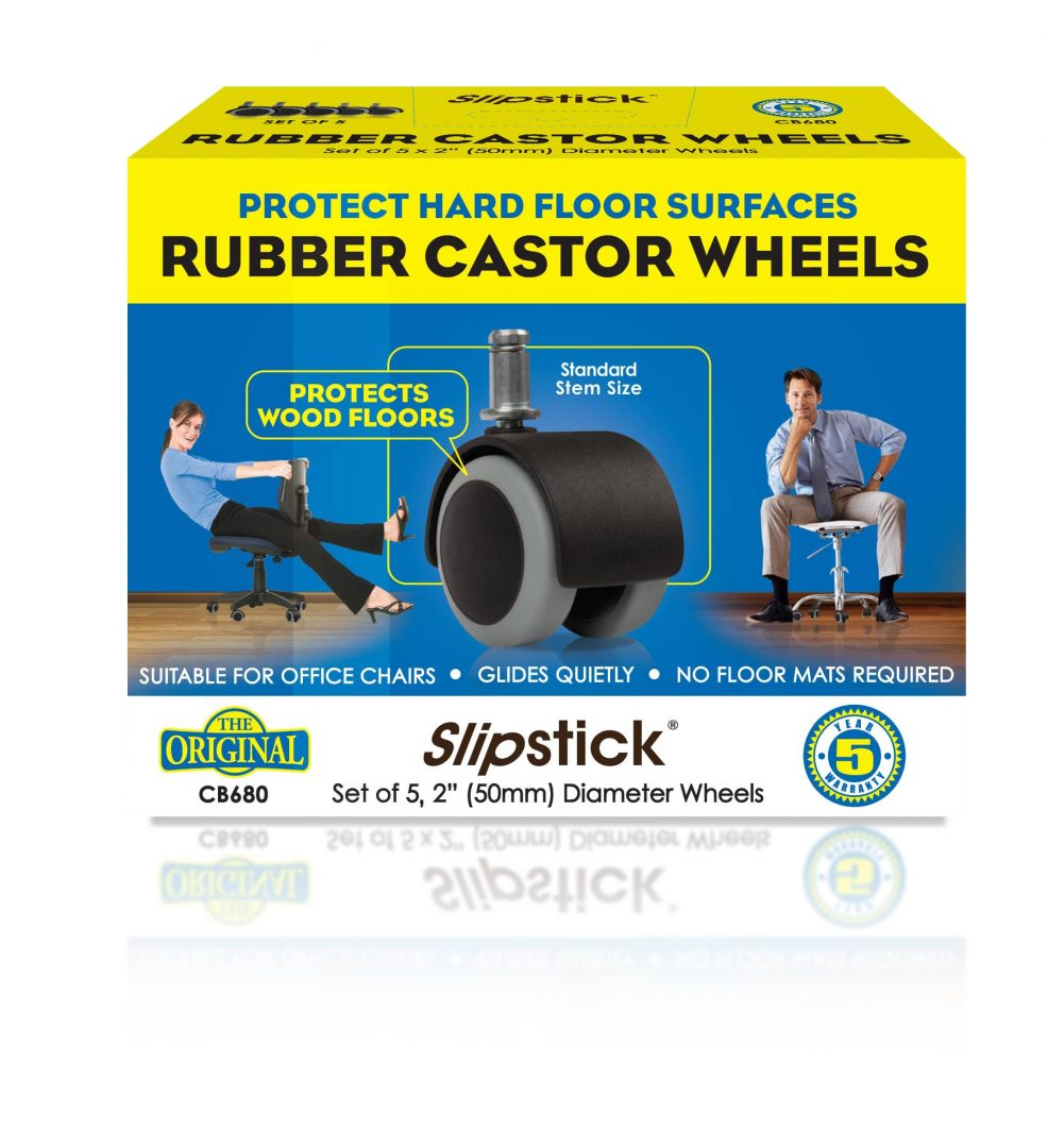 slipstick rubber castor wheels cb680 slipstick foot
