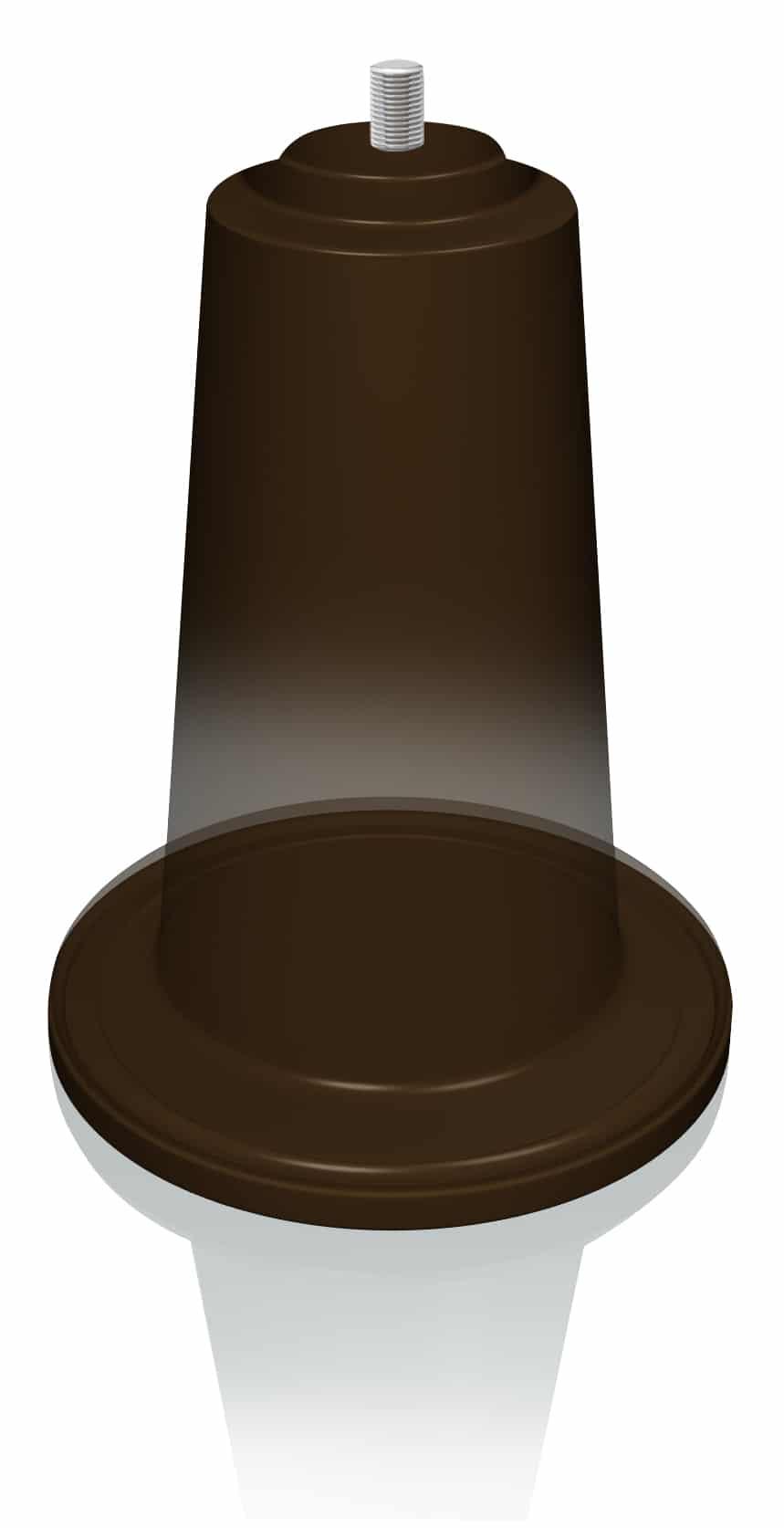 Slipstick gripper glide cup cb885 slipstick foot for Furniture grippers